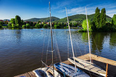 Dock with sailboats Royalty Free Stock Photo