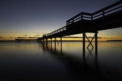 Dock-Schattenbild Stockfotografie