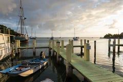 Dock in Schlüssel largo Stockfotos