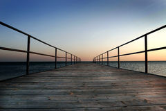 Dock by the sea Royalty Free Stock Image