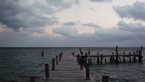 Dock and sea stock footage