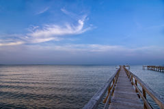 Dock and seascape Royalty Free Stock Images