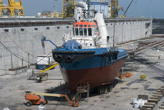 Dock sec Photographie stock libre de droits
