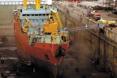 Dock sec de bateau Photos libres de droits