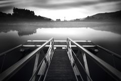 Dock in a dream stock photography