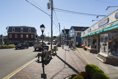 Dock Square Kennebunkport. Maine main street looking West Royalty Free Stock Images