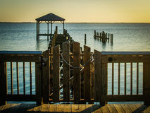 Dock At Sunrise Royalty Free Stock Photos