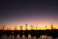 Dock sunset Royalty Free Stock Images