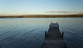Dock at Sunset Royalty Free Stock Images