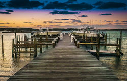 Dock at sunset Royalty Free Stock Photo