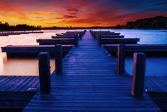 Dock at Sunset Royalty Free Stock Image