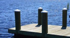 Dock sur le lac Images libres de droits
