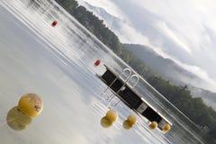 Dock sur le lac Photos stock