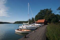 dock sweden för 11 fartyg Fotografering för Bildbyråer