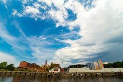 Dock terminal at sea port Royalty Free Stock Image