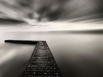 The dock to nowhere Royalty Free Stock Images
