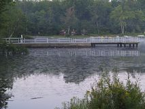 Dock at Tobyhanna State Park in Tobyhanna, Pa Royalty Free Stock Images