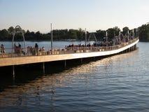 Dock tout neuf au quai Image stock