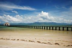 Dock tropical de plage Image libre de droits