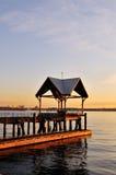 Dock am Ufergegendpark, Nordvancouver Stockbilder
