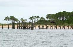 Dock am Umhang-Ausblick stockbilder
