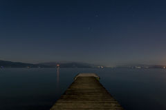 Dock under the stars Stock Photography