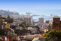 Dock in Valparaiso, Chile Royalty Free Stock Images