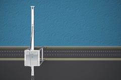 Dock vide avec la vue supérieure de grue Photographie stock libre de droits
