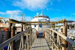 Dock view with boats, Tacoma, WA Royalty Free Stock Photos