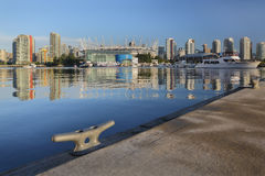 Dock View, False Creek, Vancouver Royalty Free Stock Image