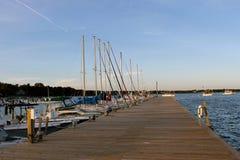 Dock voll Stockfoto