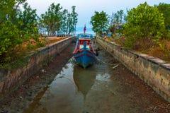 Dock von Koh Lanta Old Town stockbild