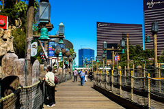 Dock Walkway at Treasure Island, Las Vegas, NV. Royalty Free Stock Images
