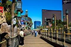 Dock Walkway at Treasure Island, Las Vegas, NV. Royalty Free Stock Images