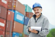Dock warehouse worker Stock Photos