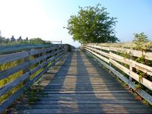 Dock. Wooden fishing dock in south jersey during a summer evening Stock Photography