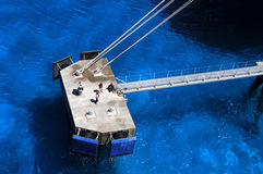 Dock Workers in Grand Turk Island Stock Images