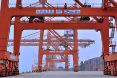 Dock working area, Xiamen, Fujian, China Royalty Free Stock Images