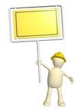 docka-byggmästare 3d med det nöd- tecknet royaltyfri illustrationer