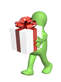 docka 3d med gåvan Arkivbild