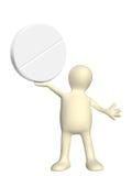 docka 3d med preventivpilleren vektor illustrationer