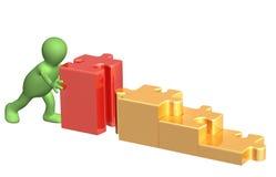docka 3d med pussel stock illustrationer