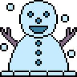 Docka för snö för vektorPIXELkonst stock illustrationer