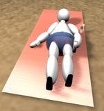 docka för strand 3d stock illustrationer