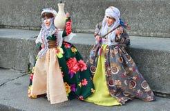 Docka i Kurdish nationell dräkt Arkivbilder