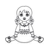Docka Leksak för barn` s stock illustrationer