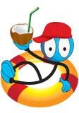 Docka med drinken vektor illustrationer