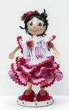Docka med flamencoklänningen Arkivbilder