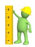 dockalinjal för byggmästare 3d royaltyfri illustrationer
