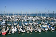 Docked boats Stock Photos